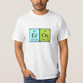 Eros periodic table name shirt