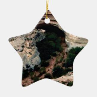 Erosion pockets in desert ceramic ornament