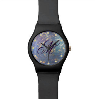 Erratic Bling | Monogram Gold Pastel Watercolor | Watch