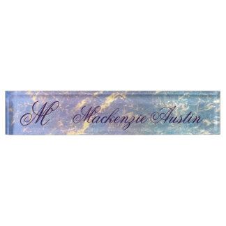 Erratic Desk   Name Watercolor Pastel Chic Gold Nameplate