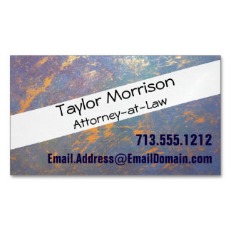Erratic Office | Monogram Watercolor Pastel Gold | Magnetic Business Card