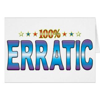 Erratic Star Tag v2 Greeting Cards