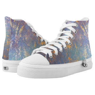 Erratic Style | Colorful Watercolor Pastel Gold | High Tops