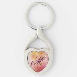 Erratic Style | Watercolor Pink Orange Gold | Keychain