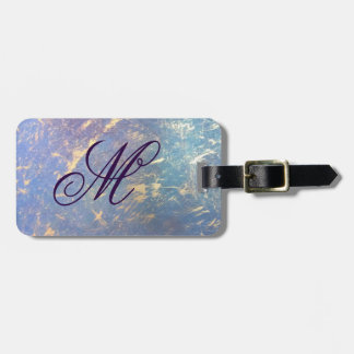 Erratic Travel | Monogram Watercolor Pastel Gold | Luggage Tag