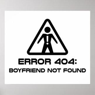 Error 404 Boyfriend Not Found Poster