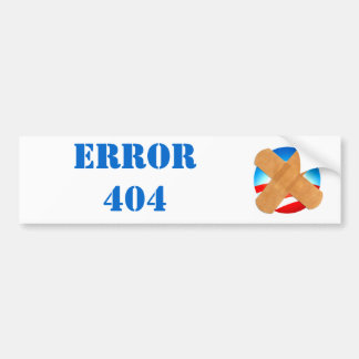 ERROR 404 bumper sticker