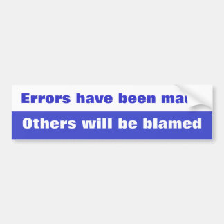 Error Bumper Sticker