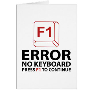 Error No Keyboard Press F1 To Continue Card