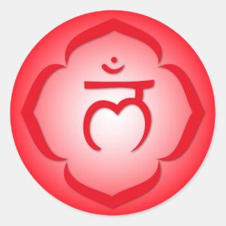 ęrs Chakra - Muladhara Sticker Rond