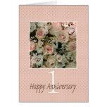 Ęrs roses heureux d'anniversaire carte de vœux