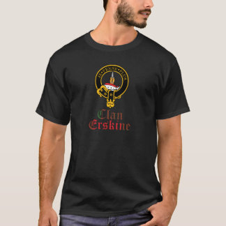 Erskine Scottish Crest Tartan Clan Name T-Shirt