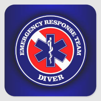 ERT Diver Square Sticker