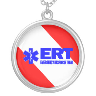 ERT -Emergency Response Team Silver Plated Necklace