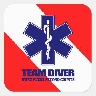 ERT Team Diver Square Sticker