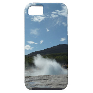 Erupting geyser in Iceland iPhone 5 Cases
