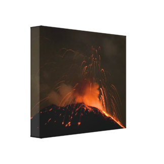 Erupting Tungurahua volcano Canvas Print