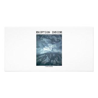 Eruption Inside (Mt. Saint Helens) Custom Photo Card