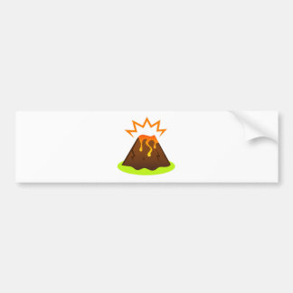 Eruption lava Kids room design Bumper Sticker