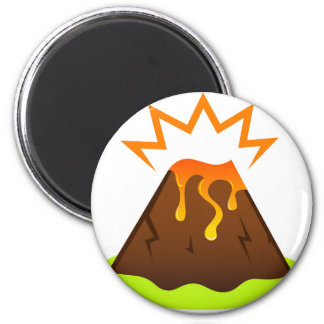 Eruption lava Kids room design Magnet