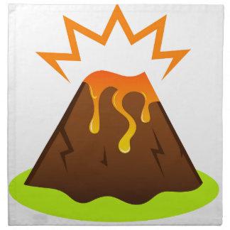 Eruption lava Kids room design Napkin