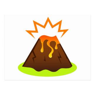 Eruption lava Kids room design Postcard