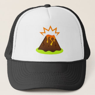 Eruption lava Kids room design Trucker Hat