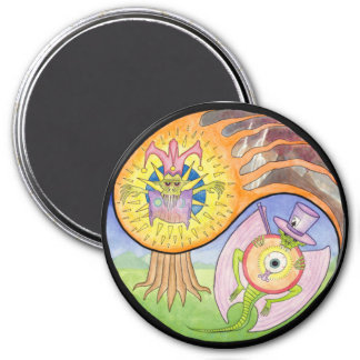 """Eruption"" Mandala Magnet"