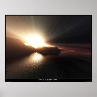 Eruption of light poster