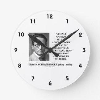 Erwin Schrödinger Science Cannot Tell Us Old Song Clock
