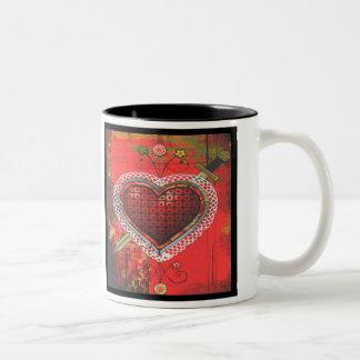 Erzulie Dantor's Vèvè Two-Tone Coffee Mug