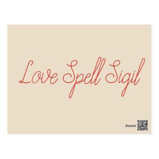 Erzulie Red Heart Veve Voodoo Hoodoo Love Sigil Postcard