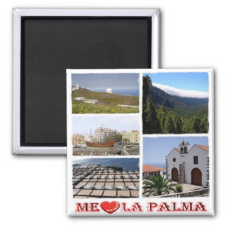 ES - Spain - La Palma - I Love - Collage Mosaic Magnet