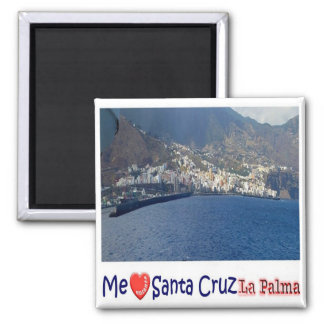 ES - Spain - La Palma - Santa Cruz I Love Collage Magnet