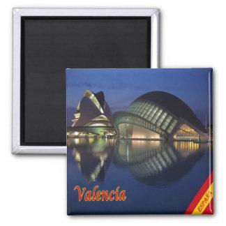 ES - Spain - Valencia Panorama Square Magnet