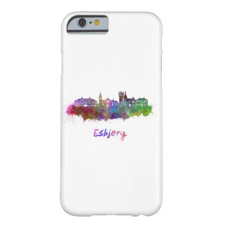 Esbjerg skyline in watercolor barely there iPhone 6 case
