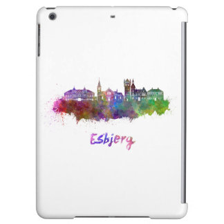 Esbjerg skyline in watercolor iPad air case