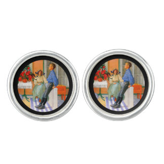 Esbjorn Brother and Sister in Sunroom Cufflinks
