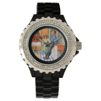 Esbjorn Brother and Sister in Sunroom Wrist Watch