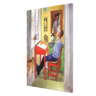 Esbjorn Doing His Homework by Carl Larsson Canvas Print