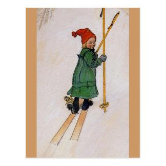 Esbjorn on Skis 1905 Postcard