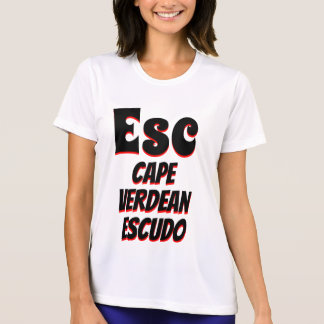 Esc Cape Verdean escudo white T-Shirt