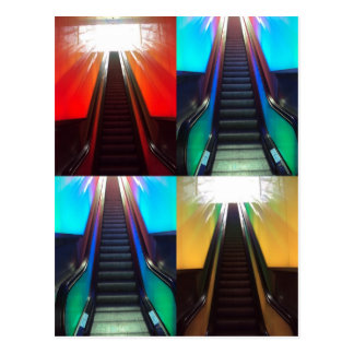Escalators Postcard