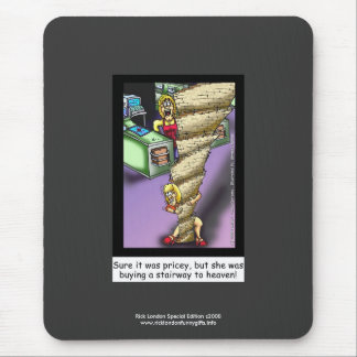 Escalier à la bande dessinée de parodie de ciel tapis de souris