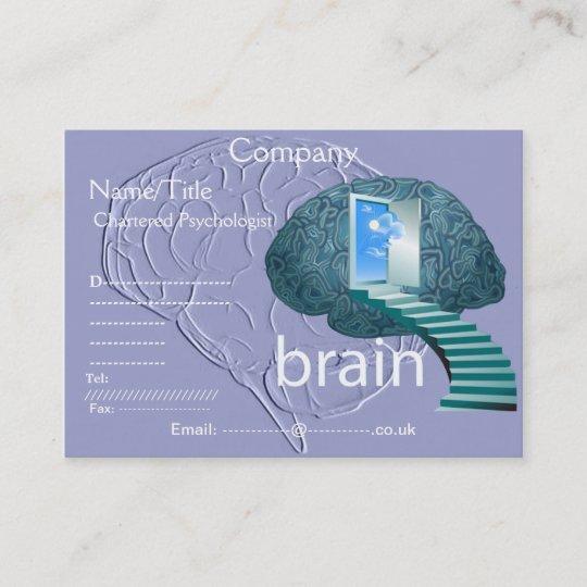 Escalier Au Carte De Visite Cerveau