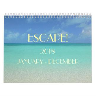 """ESCAPE"" 2018 CALENDAR/ SKY/SEA/SUN CALENDAR"