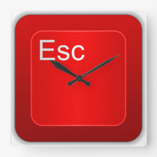 Escape Computer Button Wall Clock