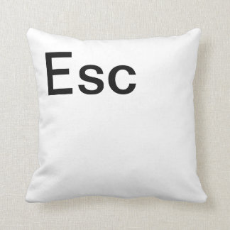 Escape Computer Key Throw Pillow