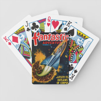 Escape from the Exploding Planet Bicycle Playing Cards