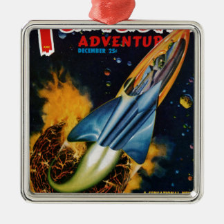 Escape from the Exploding Planet Metal Ornament